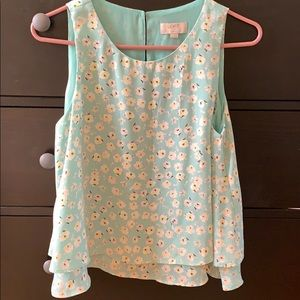 Loft Outlet sleeveless floral blouse